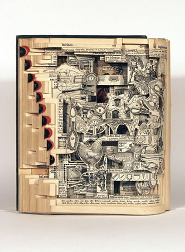 Cool Book Art | Step into a World Made Entirely of Books... (5/6)